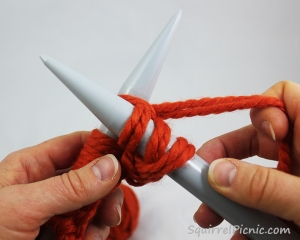 Squirrel Picnic Knit Scarf 13.2