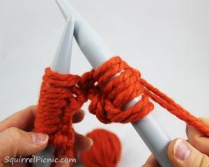 Squirrel Picnic Knit Scarf 14