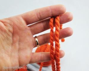Squirrel Picnic Knit Scarf 2