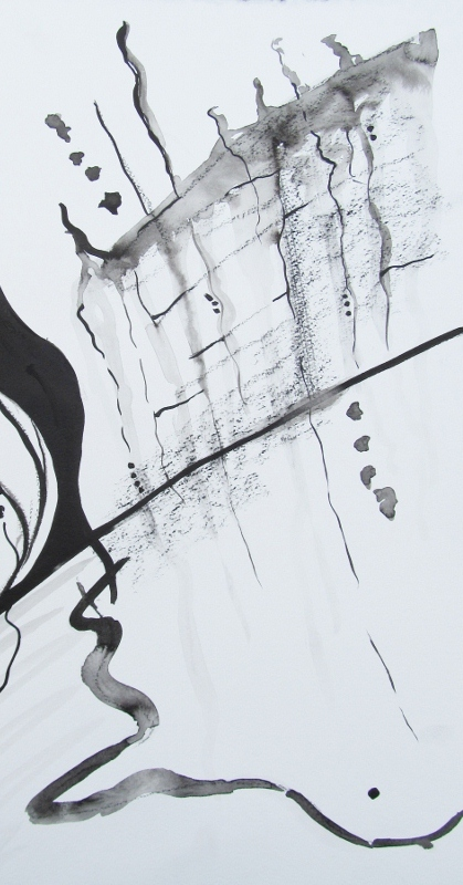 My ink sketch from last night's class at PlatteForum. It was an abstract drawing class led by contemporary artist Homake Ikeda.