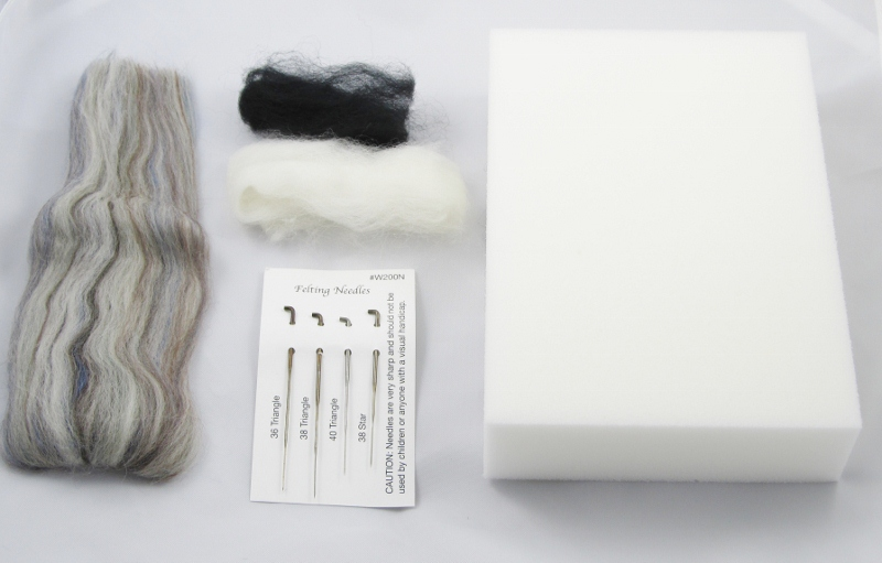 Felted Sloth Supplies (800x511)