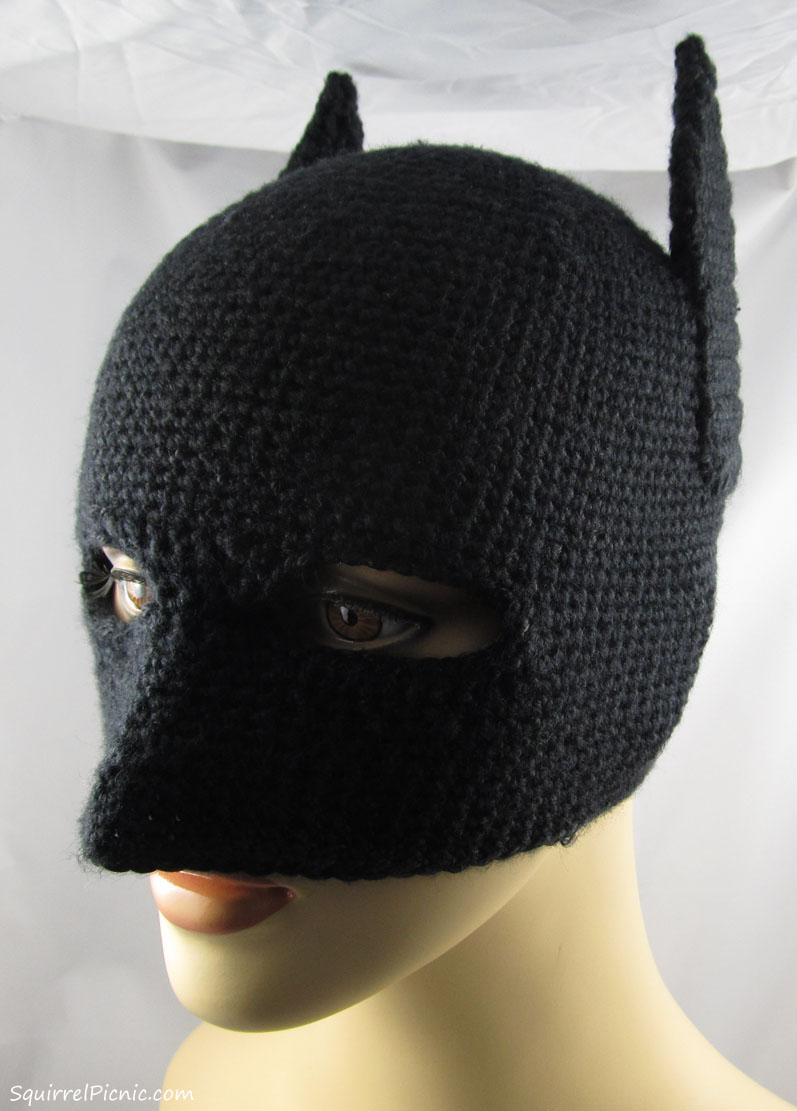 Free Crochet Pattern For Batman Hat : Make It! Challenge #4: Crochet Batman Mask Squirrel Picnic