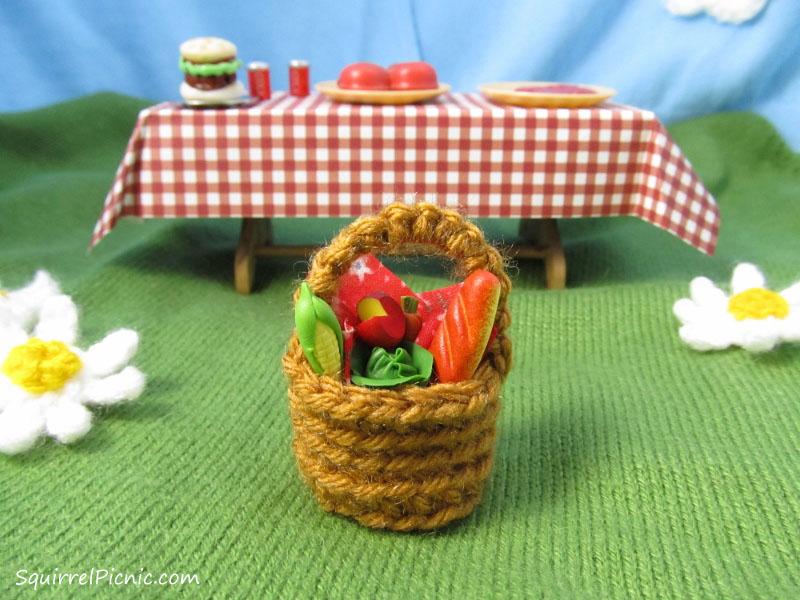 crochet picnic basket pattern squirrel picnic