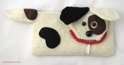 Jack Russell Felted Clutch