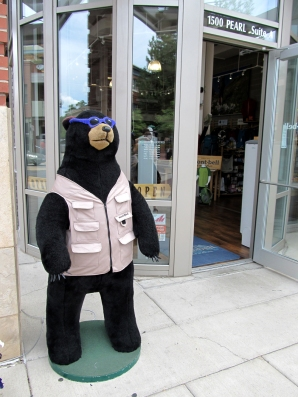 The legendary Montbell bear wears croshades.
