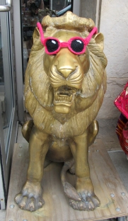 Lions wear croshades.