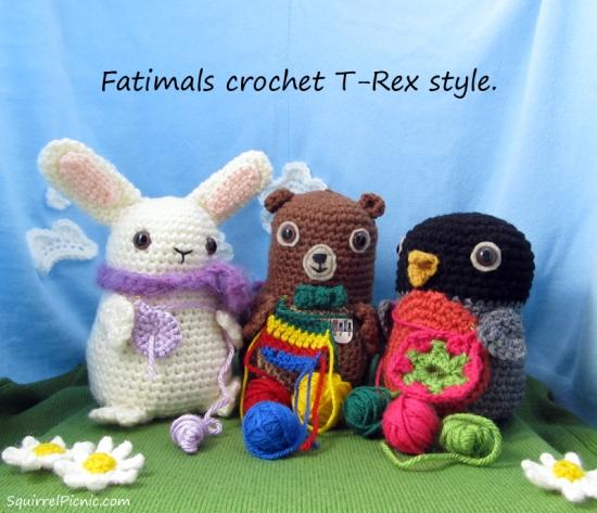 Fatimals crochet T-Rex Style