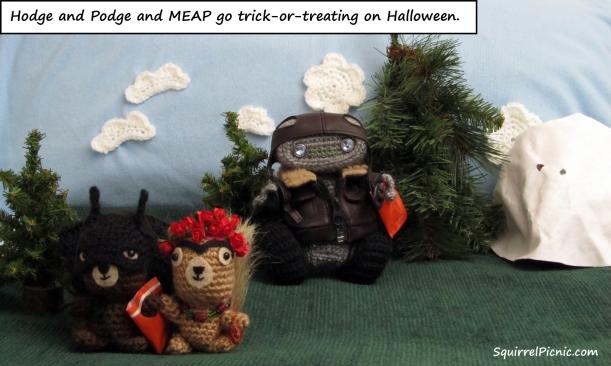 Squirrel Picnic Comic Halloween 1