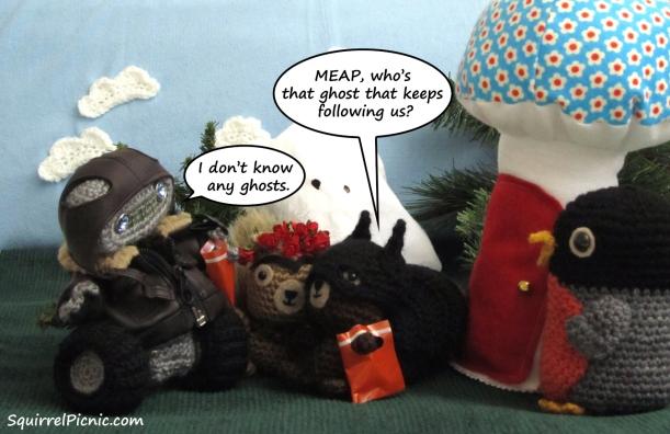 Squirrel Picnic Comic Halloween 4