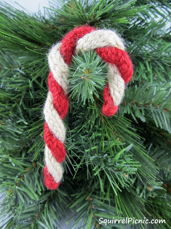 Candy Cane Sugar Cookie Crochet Pattern Squirrel Picnic