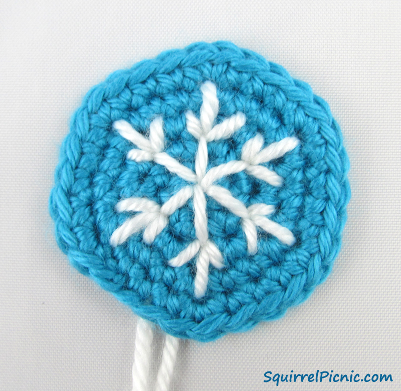 Frosted Snowflake Sugar Cookie Crochet Pattern Squirrel