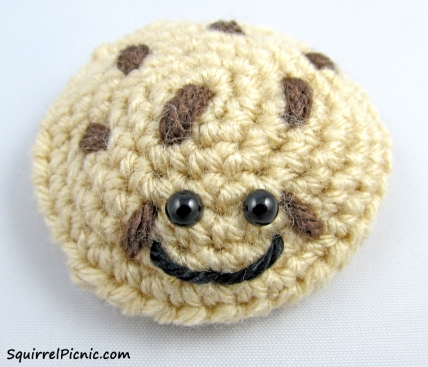Chocolate Chip Cookie Crochet Pattern from Squirrel Picnic