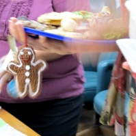 Yay! She chose a gingerbread man!