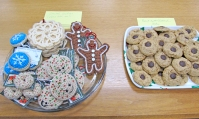 Crochet Cookies and Peanut Butter Blossoms.