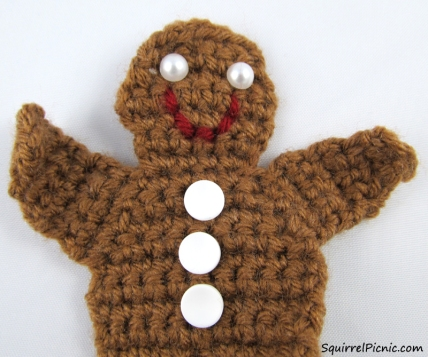 Gingerbread Man Free Crochet Pattern from Squirrel Picnic