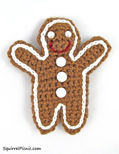 Free Crochet Pattern For Gingerbread Man : Squirrel Picnic ornaments