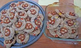 Reeses Pieces Chocochunk Pretzel Cookies