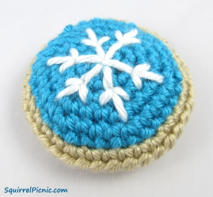 Snowflake Frosted Sugar Cookie Free Pattern