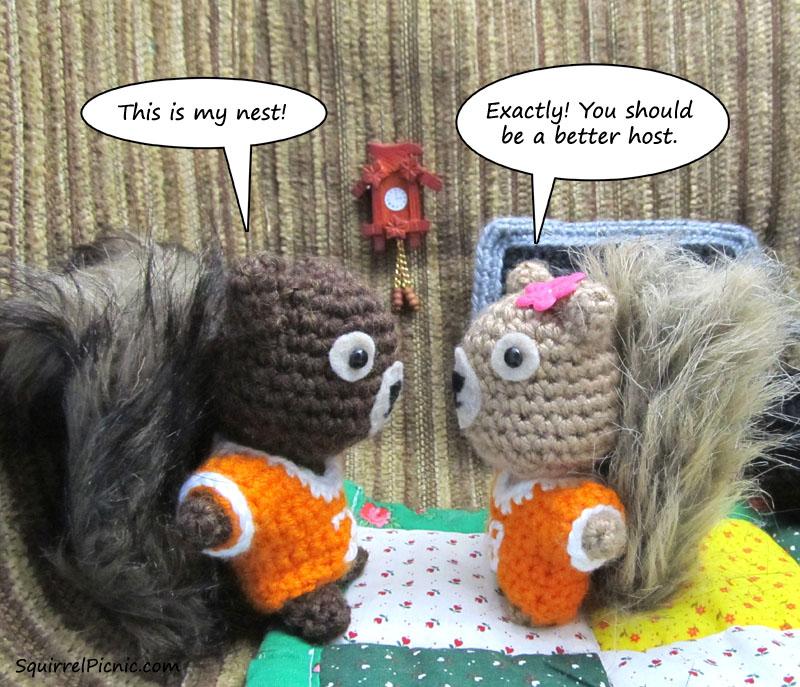 Super Bowl Squirrel Picnic