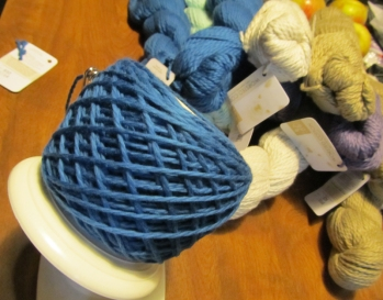 Before you know it you have a ball of yarn!