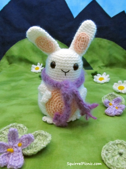 Jelly Belly Bunny with Scarf Pattern by Squirrel Picnic