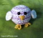 Crochet Baby Rainbow Chick by Squirrel Picnic