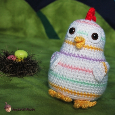 Mama Rainbow Chicken Crochet Pattern from Squirrel Picnic