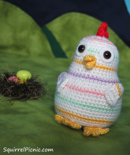 Rainbow Chicken Crochet Pattern by Squirrel Picnic2