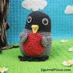 Crochet Rosa Robin Pattern from Squirrel Picnic