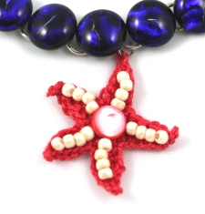 Starfish Charm with Beads