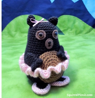 Tina Ballerina Bear Crochet Pattern by Squirrel Picnic