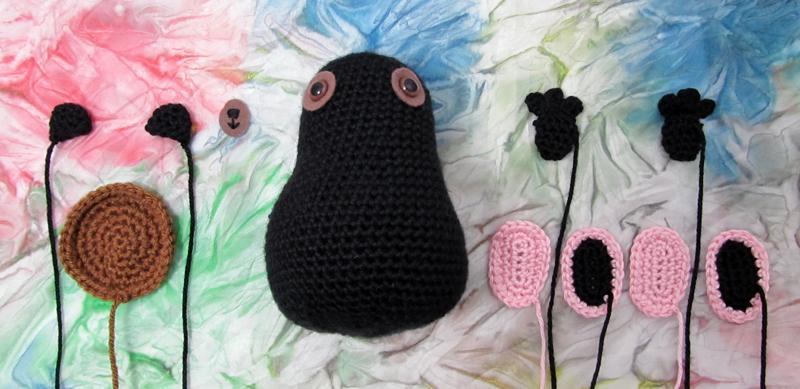 Tina Ballerina Bear Crochet Pattern Pieces