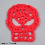 Crochet Skull by Squirrel Picnic