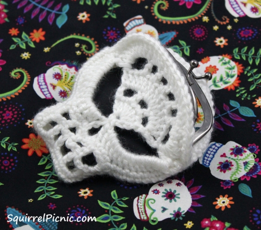 Candy skull coin purse