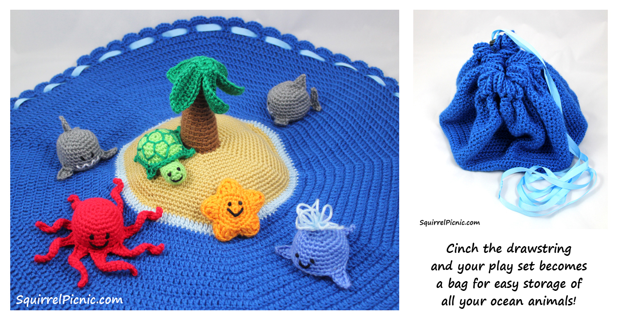 Free Crochet Patterns For Sea Animals : Make It! Challenge #10: Crochet Island Play Set Squirrel ...