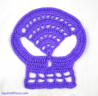 Large Skull Crochet Pattern by Squirrel Picnic