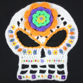 Jennifer Olivarez Skull Art Hoodie5