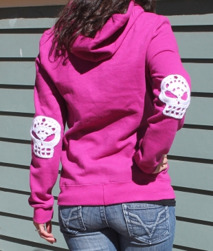 Skull elbow patches