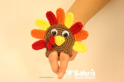 Turkey Finger Puppet by Sahrit