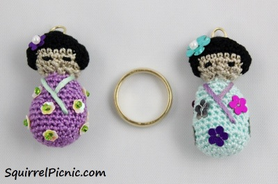 Kokeshi Doll Charms Scale_Squirrel Picnic