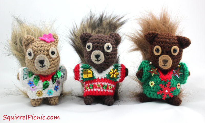 Ugly Christmas Sweater Crochet Pattern For Your Squirrel