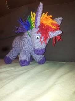 """Wonky"" the Rainbow Donkey by lenisd"