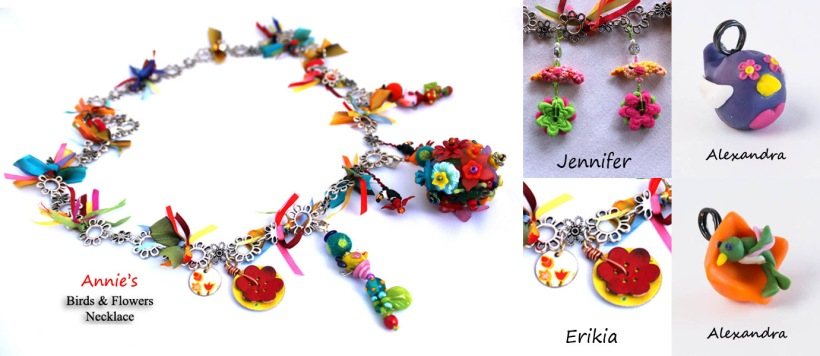 Annie's Birds and Flowers Necklace January
