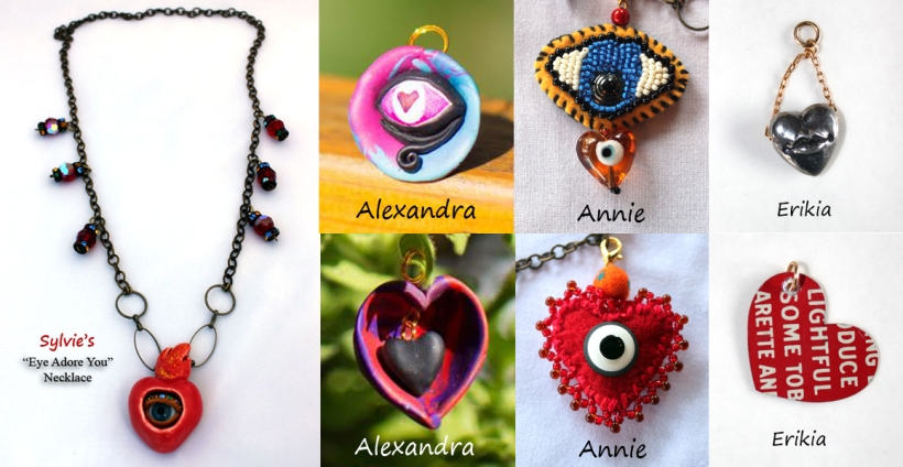 Sylvie's Eye Adore You Charm Necklace January