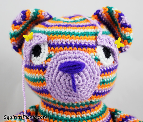 Crocheting Eyes : ... to Add Faces to Amigurumi: Crochet Eyes and Eyelids Squirrel Picnic