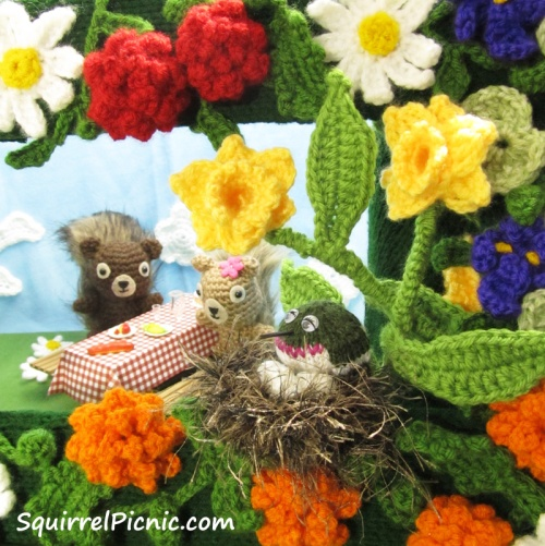 Welcome Back Spring Squirrel Picnic S Banner Diorama Explained Squirrel Picnic
