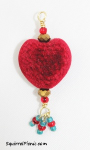 Heart Charm for Sylvie by Squirrel Picnic
