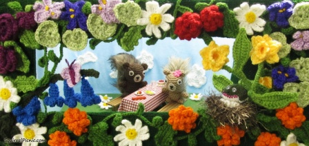 Welcome Back Spring Squirrel Picnic S Banner Diorama
