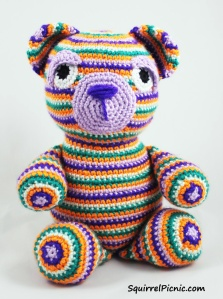 Motley the Bear Crochet Pattern by Squirrel Picnic0