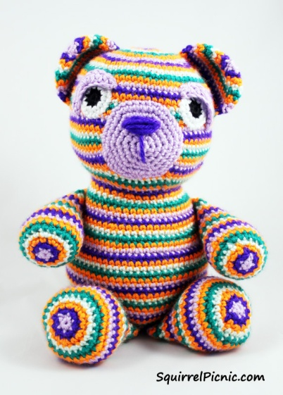 Motley the Bear Crochet Pattern by Squirrel Picnic3